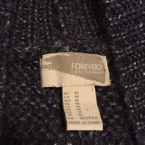 Forever 21 Sweaters - Forever21 Medium Open Front Fuzzy Cardigan Sweater